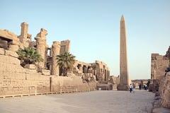 Obelisco en Karnak Foto de archivo libre de regalías