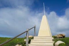 Obelisco en la bahía de herradura, puerto Elliot, sur de Australia fotos de archivo libres de regalías