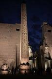 Obelisco en la noche imagenes de archivo