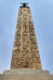 Obelisco en la plaza di Spagna imagen de archivo libre de regalías