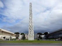 Obelisco EUR Esposizione Universale Roma, Roma imagenes de archivo