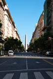 Obelisco Obelisk, Buenos Aires Argentina. Obelisk Obelisco from the streat diagonaly north, Buenos Aires Argentine royalty free stock photos