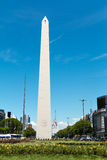 Obelisco (Obelisk), Buenos Aires Argentina. The Obelisk of Buenos Aires was built in 1936 to celebrate the 400th anniversary of the city founding Alberto stock photo