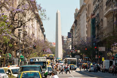 Obelisco (Obelisk), Buenos Aires Argentina. The Obelisk of Buenos Aires was built in 1936 to celebrate the 400th anniversary of the city founding Alberto stock images
