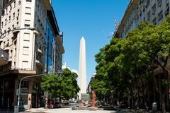 Obelisco (Obelisk), Buenos Aires Argentina. The Obelisk of Buenos Aires was built in 1936 to celebrate the 400th anniversary of the city founding Alberto stock photos