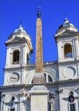 Obelisco Sallustiano Trinita Dei Monti Spanish Steps de los jeroglíficos foto de archivo
