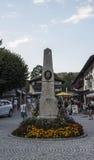 Obelisco in Schoenau al Koenigssee, Germania, 2015 immagini stock libere da diritti