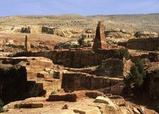 Obeliscos del Petra foto de archivo libre de regalías