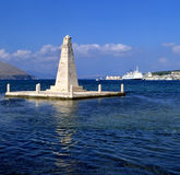 Obelisk. The obelisk monument to the British rule of Kefalonia, Greece, from 1809 to 1864 royalty free stock photos