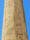 Obelisk with ancient Egyptian hieroglyphics Royalty Free Stock Image