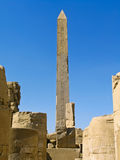 Obelisk antico al tempiale di Karnak, Luxor Fotografia Stock
