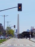 Obelisk av Buenos Aires Arkivfoto