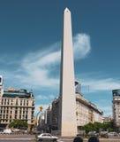 Obelisk av Buenos Aires i Argentina arkivfoton