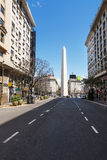 Obelisk from Avenida Roque Saenz Pena in Buenos Aires Stock Photos