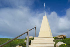 Obelisk bij Hoefijzerbaai, Haven Elliot, Zuid-Australië Royalty-vrije Stock Foto's