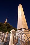 Obelisk and The Blue Mosque Minaret Stock Photography
