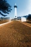 Obelisk in Boekarest Stock Foto's