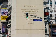 Obelisk of Buenos Aires El Obelisco royalty free stock photography