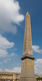 Obelisk on the Champs Elysees. Obelisk on the Avenue de Champs Elysees in Paris, France on a sunny day stock image