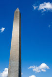 Obelisk with cloudy blue sky background, Washington monument. Washington, DC, capital city of the USA stock photo