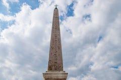 Obelisk de Flaminio em Roma, Italy fotos de stock