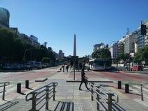 Obelisk, de stad van Buenos aires, Argentinië Stock Foto