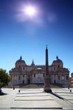 Obelisk della basilica della Santa Maria Maggiore a Roma fotografia stock libera da diritti