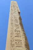 Obelisk details at Karnak Temple in Luxor Stock Image