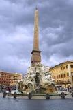 Obelisk of Domitian in Piazza Navona Stock Photos
