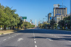 The Obelisk (El Obelisco) in Buenos Aires. Stock Photography