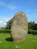 Obelisk of  engraved stone Royalty Free Stock Image
