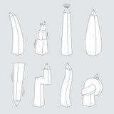 Obelisk expressions / Politics Stock Image