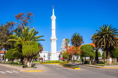 Obelisk of Freedom. Tower monument in Sucre, Bolivia Stock Photos