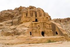 Obelisk-Grab, alte Stadt von PETRA, Jordanien Lizenzfreies Stockbild