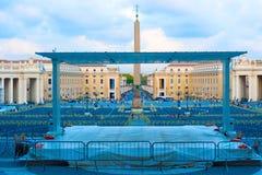 Obelisk in Heilige Peter Square in Rome, Italië Royalty-vrije Stock Foto's