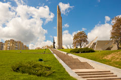 Obelisk Hero city Minsk. And Belarusian Great Patriotic War Museum in Minsk, Belarus Stock Photography