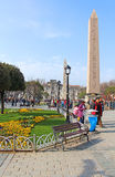 Obelisk at hippodrome in Istanbul, Turkey Stock Photo