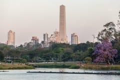 Obelisk i Ibirapuera Sao Paulo Arkivbild