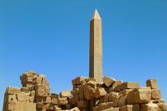 Obelisk i Luxor Egypten Arkivfoton