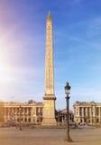 Obelisk i Paris på Concorde Place i Frankrike Arkivfoto