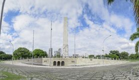 Obelisk of Ibirapuera park. Sao Paulo SP, Brazil - March 02, 2019: Obelisk of Ibirapuera park, also known as Obelisco Mausoleu aos Herois de 32 royalty free stock images