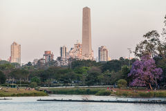 Obelisk in Ibirapuera Sao Paulo Stock Photography