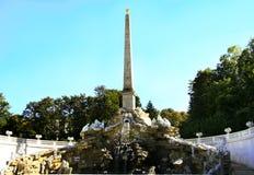 Obelisk imperial fountain Schonbrunn Stock Image