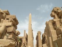 Obelisk am Karnak Tempel Stockfotografie