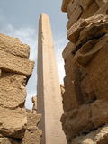 Obelisk of Karnak temple Stock Image