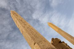 Obelisk in Karnak Temple, Luxor, Egypt. Obelisk in Karnak Temple, Luxor City, Egypt stock image