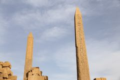 Obelisk in Karnak Temple, Luxor, Egypt. Obelisk in Karnak Temple, Luxor City, Egypt stock images