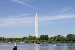 Obelisk Lake Washington DC Stock Photography
