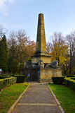 Obelisk of Lions in Copou Gardens, Iasi, Romania in autumn Stock Photography