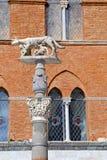 Obelisk of Lupa, Siena, Tuscany - Italy Stock Image